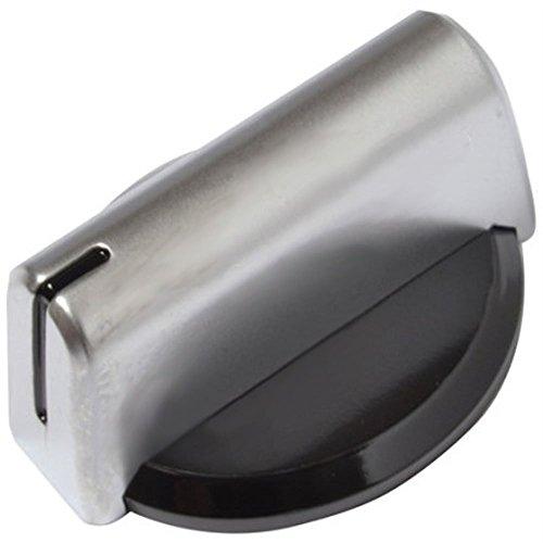 Baumatic Echte Temperatur Einstellknopf für Ofen Grill Herd (schwarz/silber)