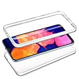 Le Petit Français® - Cover per Samsung A10, trasparente, antiurto, in silicone, anteriore posteriore, completa, ibrida, sottile, integrale A10, colore: Trasparente