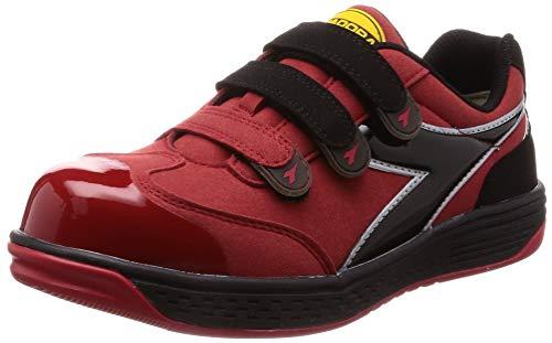 [ディアドラユーティリティ] 安全作業靴 JSAA認定 マジックタイプ プロスニーカー BUSTARD バスタード BT323 レッド/ブラック/レッド 28.0 cm 3E