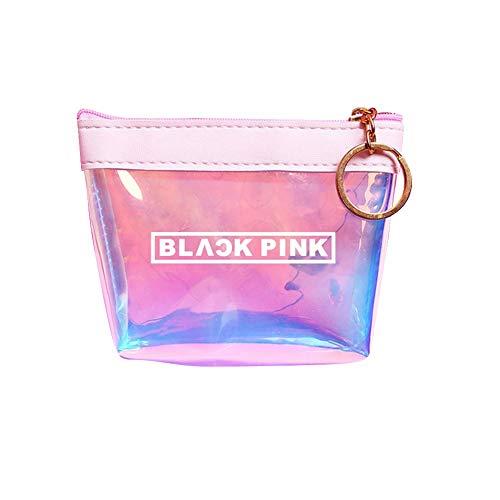 Saicowordist KPOP BLACK PINK Sssigkeiten Farben Laser Geldbrse Persnliche Unterschrift Schlssel Tasche Mdchen Geldbrse Hot Geschenk(BLACK PINK)