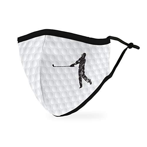 Weddingstar waschbare, Mundschutzmasken aus Stoff. Wiederverwendbar und verstellbar mit Staubfiltertasche - Golf