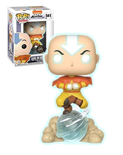 Funko Pop! Avatar The Last Airbender Aang on Airscooter Glow in The Dark GITD Chase - Figura decorativa (edición especial)