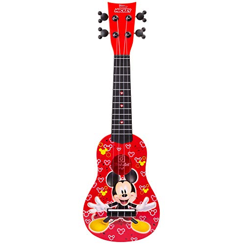 First Act Mickey Mouse Toy Ukulele, 20 Inch - Ukulele for Beginners, Musical Instruments for Toddlers and Preschoolers - Features Your Child's Favorite Disney Character