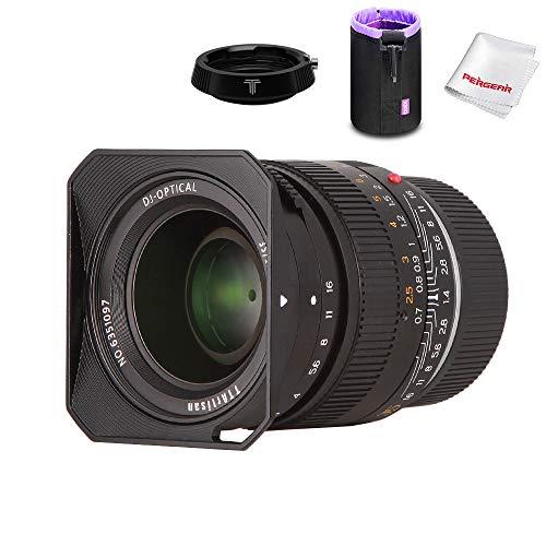 TTArtisan 35mm F1.4 固定焦点レンズ フルフレーム カメラ交換レンズ Leica M-マウント 大口径 アルミ製 明るいレンズ Leica M-M/M240/M3/M6/M7/M8/M9/M9pなどに対応 風景/人文/肖像に最適 シンプル M-FXマウントアダプターとレンズ用収納ボックス同梱 (交換レンズ+M-FXマウントアダプター)