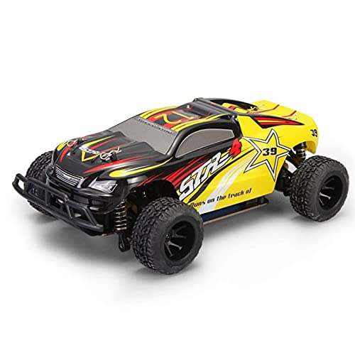 THj Camión RC Todo Terreno Todoterreno 1/24, Buggy RC Monster con Llantas Grandes, Carro Escalador de Alta Velocidad de 4 Canales Drift Stunt Rac