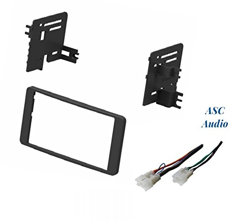 ASC Audio Car Stereo Dash Install Kit and Wire Harness for Installing an Aftermarket Double Din Radio for Select 2003-2006 Toyota Tundra, 2003-2007 Toyota Sequoia - No Factory Premium Amp