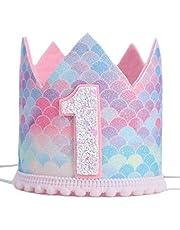 Mermaid party birthday crown Hat-1 / 2-6 crown, our little mermaid, girl mermaid