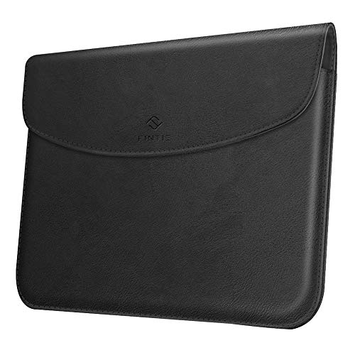 Fintie Sleeve Case for New Microsoft Surface Go 2 2020 / Surface Go 2018 - Slim Fit Premium Vegan Leather Protective Cover with Stylus Loop, Compatible with Type Cover Keyboard, Black