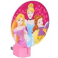Disney Princess Night Light Multi-Colored - Belle, Cinderella and Tangled Rapunzel