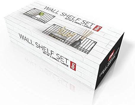 Gadgy H/ängeregal /& 30 x 12 x 15 cm Small//Large Schweberegal   Metallregal Wanddeko Set 2 St/ück Wandregal Metall Schwarz Gr/ö/ße 45 x 12 x 15 cm