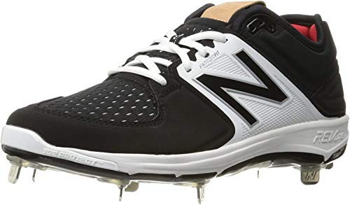 New Balance Herren L3000v3 Baseball-Schuh-m, schwarz/weiß, 50 EU