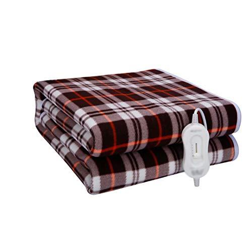 GQF Heizdecke Einzelbett mit 3 Heizstufen Abnehmbare Stromversorgung Wärmekontrolle & Überhitzungsschutz und leicht zu reinigender Streifen 170 * 80cm