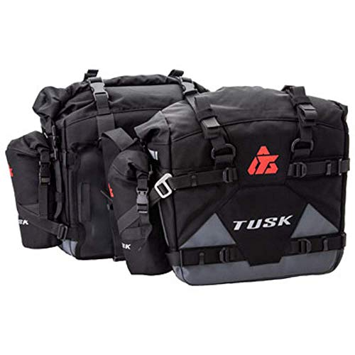 Pannier Racks with Pilot Pannier Bags and Small Bottle Holders Compatible With Honda Africa Twin Adventure Sports DCT CRF1000D2 2018-2019