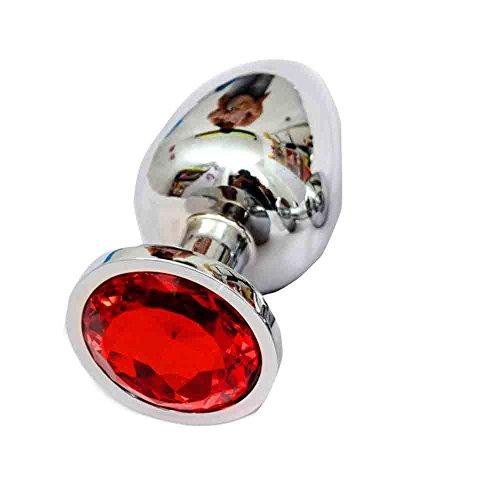SMENGG Acciaio Inox Color Cristallo per Anale in Acciaio Inox con Attacco Tappo