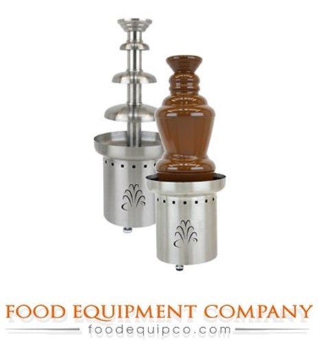 "Buffet Enhancements 1BMFCF27E22 220V 50/60 Hz 3 Tier Chocolate Fountain, 27"", Stainless Steel"