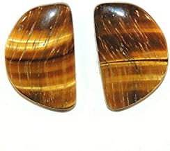 Tigers Eye 22x14mm Cabochons Set of 2 from Africa DWK-832