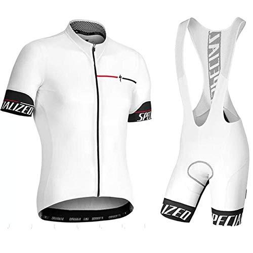 Maglia Da Ciclismo Da Uomo Set Manica Corta Estiva Pantaloncini Da Donna Abbigliamento Da Bici Camicia Abbigliamento Tuta -M