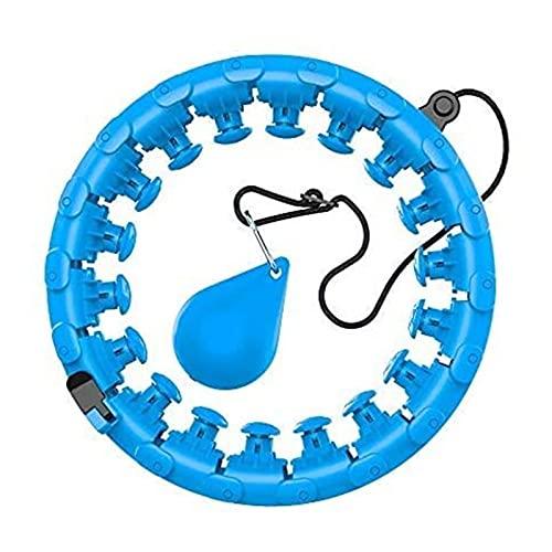 Smart Hula Hoop Contador Ponderado Inteligente Desmontable Ajustable Fitness Hula Hoop Hombres Mujeres Deportes Pérdida de Peso Entrenamiento para Adelgazar sin Caer (Color : Blue)