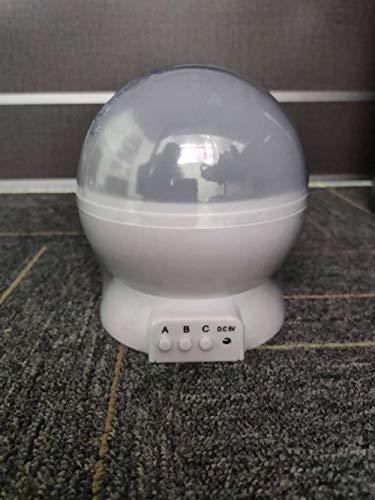 Automatische rotierende LED-Sternenhimmel-Projektionslampe, verträumte rotierende Sternenhimmel-Tischlampe-1w_Starry Himmel-Weiß