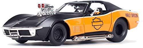 TYZXR 1:24 Escala Simulación Aleación Fundición a presión Coche 1970 Corvette Clásico Modelo de Coche Regalos para Hombres Aniversario y cumpleaños