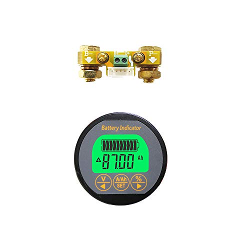 Buy AiLi Battery Monitor Voltmeter Ammeter Voltage Current Meter 8-80V 0-100A Auto Car Motor Boat Ca...