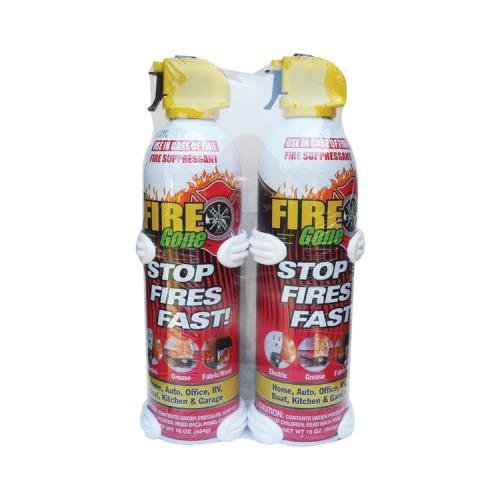 Fire Gone 2-Fg-7209 Fire Gone Supressant 16 Oz W/ Bracket (2 Pk) (Fire Gone2-FG-7209 )