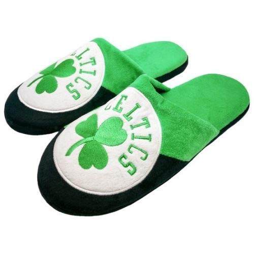 Forever Collectibles NBA Boston Celtics Colorblock Slide Slippers Size L (Large) Green
