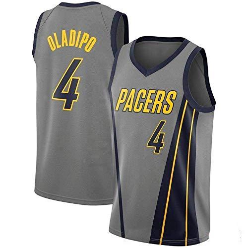 CCKWX Herren Trikots-Victor Oladipo # 4 Indiana Pacers Basketball Trikot, Kühles, Atmungsaktives Swingman Unisex Classic Vest Trikots T-Shirt,XXL:190cm/95~110kg