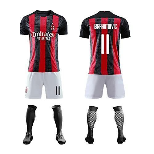 Sito ufficiale Maglia stagione Milan, maglie Ibrahimovic n.11 e n.21. La prima maglia, prodotto membro club, replica ufficiale, taglia adulto e bambino. (Rosso-1,L)