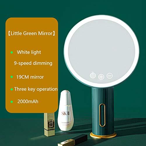 BAWAQAF Espejo de maquillaje led espejo de maquillaje espejo con luces y espejo giratorio pequeño espejo de maquillaje inteligente para mujeres