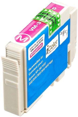 iColor Drucker Patrone: Patrone für Epson (ersetzt T1811 T1812 T1813 T1814/ 18XL), Magenta (kompatible Tintenpatronen für Tintenstrahldrucker, Epson)
