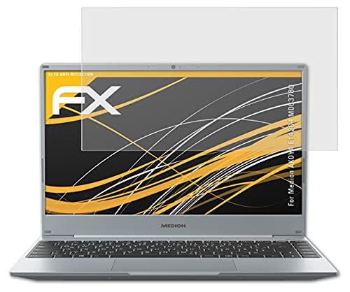 atFolix Panzerfolie kompatibel mit Medion AKOYA E14304 MD63780 Schutzfolie, entspiegelnde & stoßdämpfende FX Folie (2X)