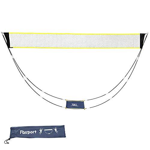 KIKILIVE Filet de badminton portable avec sac de transport, filet de volleyball pour les sports d'intérieur et de plage en plein air - Se monte en quelques secondes sur n'importe quelle surface