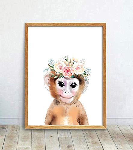 AQjept DIY Dipingere con i Numeri Piccola Scimmia Dipingi con i Numeri Kit di Pittura acrilica Fai da Te per Bambini e Adulti Principianti