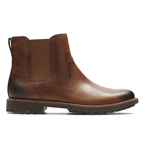 Clarks Herren Montacute Top Chelsea Boots, Braun (Dark Tan Lea), 41 EU