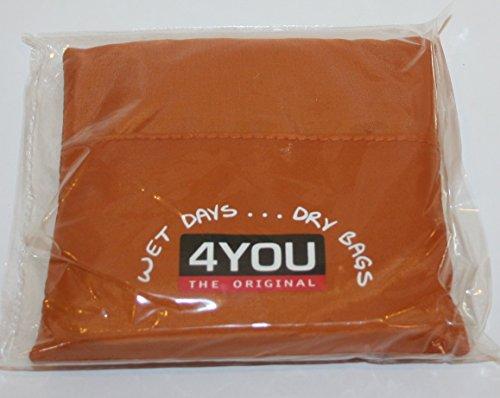 4 YOU funda impermeable para la lluvia de la capilla de colour marrón