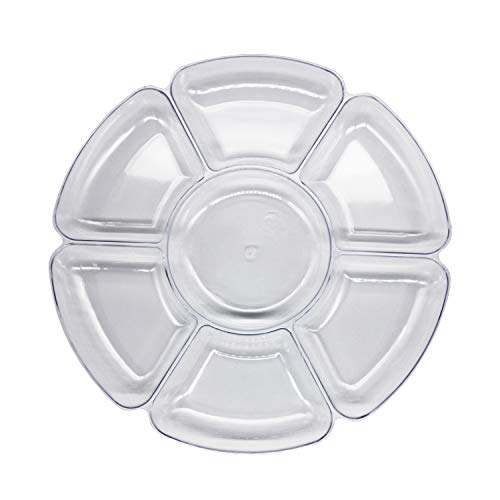 divided serving tray with cover - 6
