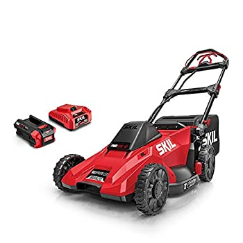SKIL SM4910-10 CORE 40 20-Inch 40V Self Propelled Brushless Mower Kit Includes 5.0Ah Battery and Auto PWR Jump Charger Red