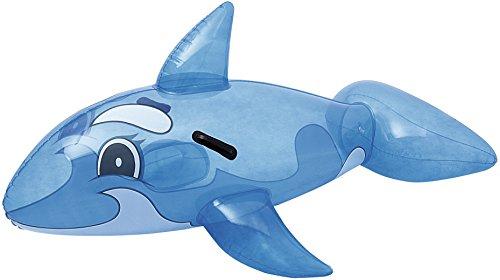 Bestway Transparent Whale Rider 157x94 cm, Schwimmtier