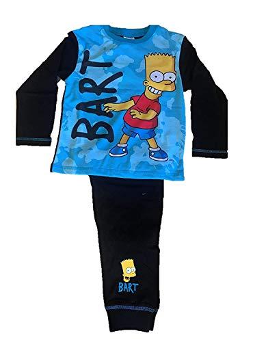 TDP Jungen Charakter Kinder Bart Simpsons Lang Pyjama - Bart, 116