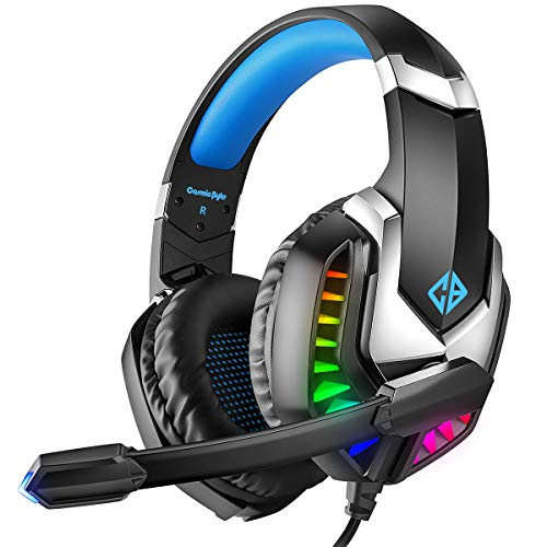 Cosmic Byte G2050 RGB 7.1 Surround Sound USB Gaming Headphone for PS5, PC with Software and Gel Microphone (Blue)