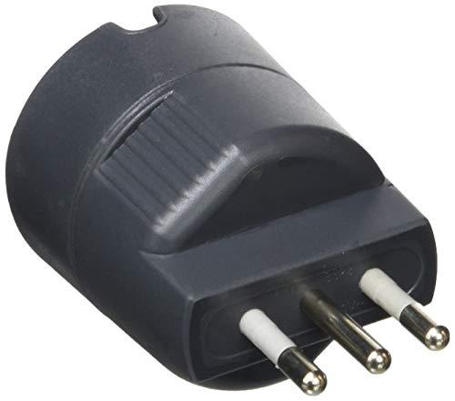 BTicino S3623GE Adattatore Presa Tedesca, Grigio (Antracite), 250 volt, 10A