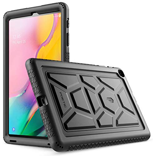 Galaxy Tab A 10.1 2019 Case, Model SM-T510/T515, Poetic Heavy Duty Shockproof Kids Friendly Silicone Case Cover,TurtleSkin Series, for Samsung Galaxy Tab A Tablet 10.1 Inch (2019), Black