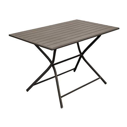 Rendez vous déco Table de Jardin Globe Pliante café 110 cm