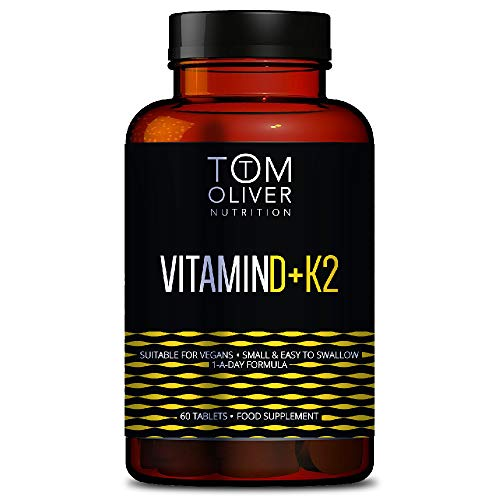 Tom Oliver Nutrition - Vitamin D (60 Tablets) - Suitable for Vegans - One A Day Formula (1) - Sustainable Packaging