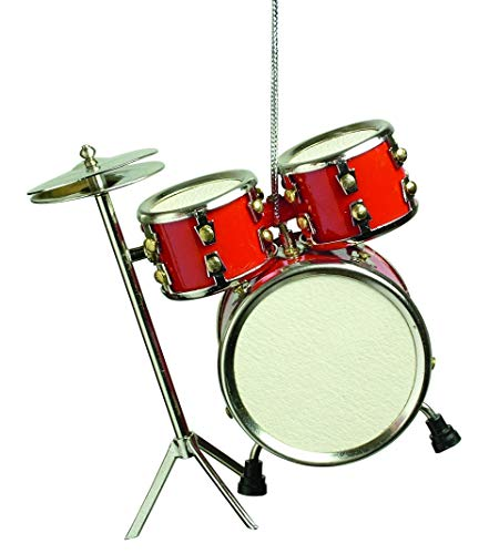 Musical Instrument Christmas Ornament (3' Red Drum Set)