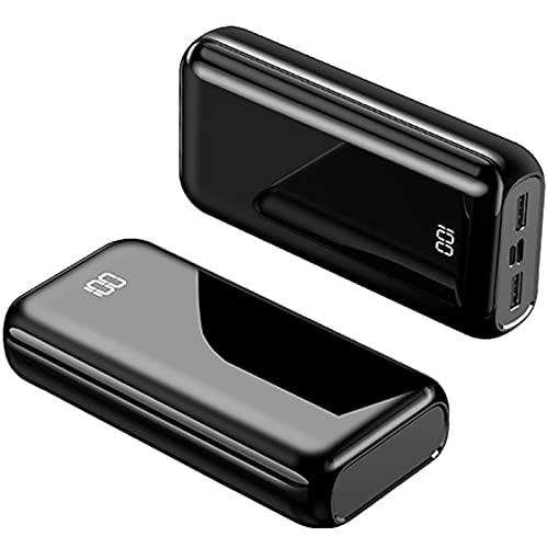 PD Cargador Portátil, Powerbank carga rápida 22.5W Power Bank, Batería Externa con Entrada/Salida USB C, Carga 3 Dispositivos, Banco de Energía Batería Portátil para i-Phone, S-amsung, etc,100000mAh