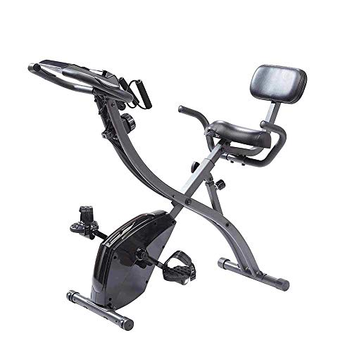 Original As Seen On TV Slim Cycle Stationary Bike - Folding Indoor Exercise Bike with Arm Resistance Bands and Heart Monitor - Perfect Home Exercise Machine for Cardio by