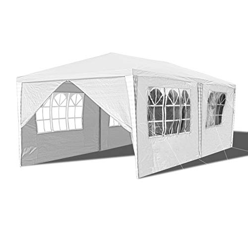 Hengda Pavillon 3x6m Wasserdicht Gartenpavillon,Stabiles Partyzelt Festzelt mit 6 Seitenteilen UV-Schutz für Markt Camping Hochzeiten Festival