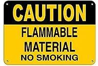 注意可燃性物質禁煙金属錫サイン工業用サイン安全標識